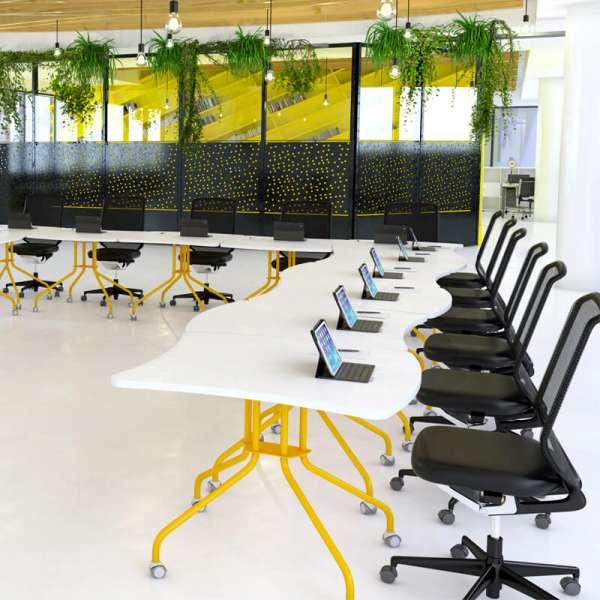 Table de réunion pliante fabriquée en France - Kali - 1
