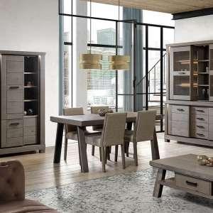 Table de salle à manger en bois extensible avec pieds obliques - Dublin