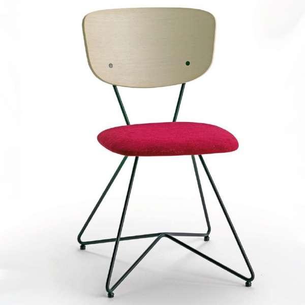 Chaise de designer italienne en tissu fuchsia - Xylon - 2