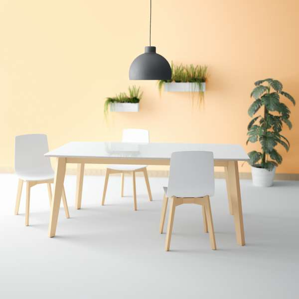 Table design extensible en verre - forme elliptique - Eclipse 4 - 1