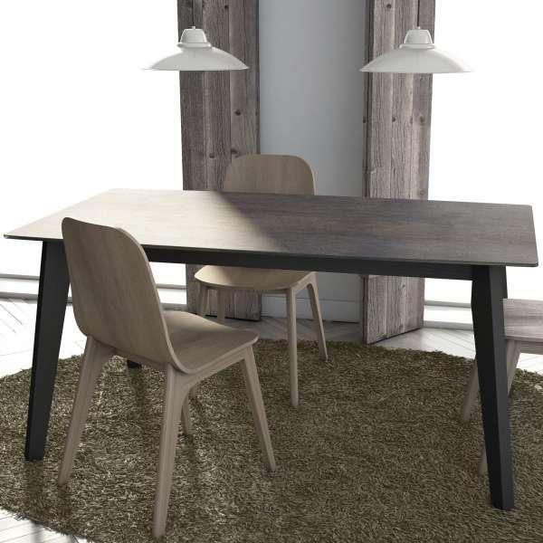 Table moderne extensible en céramique - forme elliptique - Eclipse - 2
