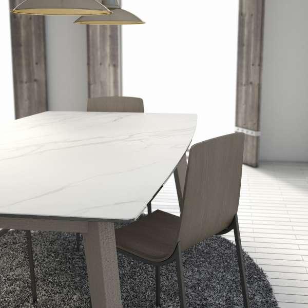 Table extensible en céramique - forme elliptique - Eclipse - 3