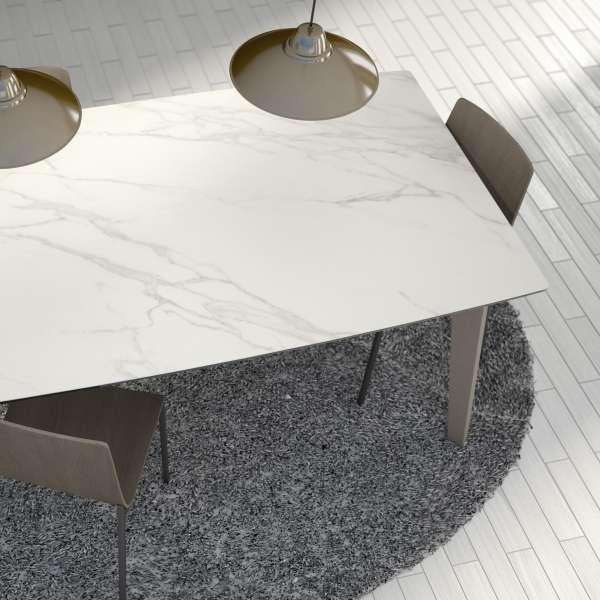 Table moderne avec allonges en céramique - forme elliptique - Eclipse - 4