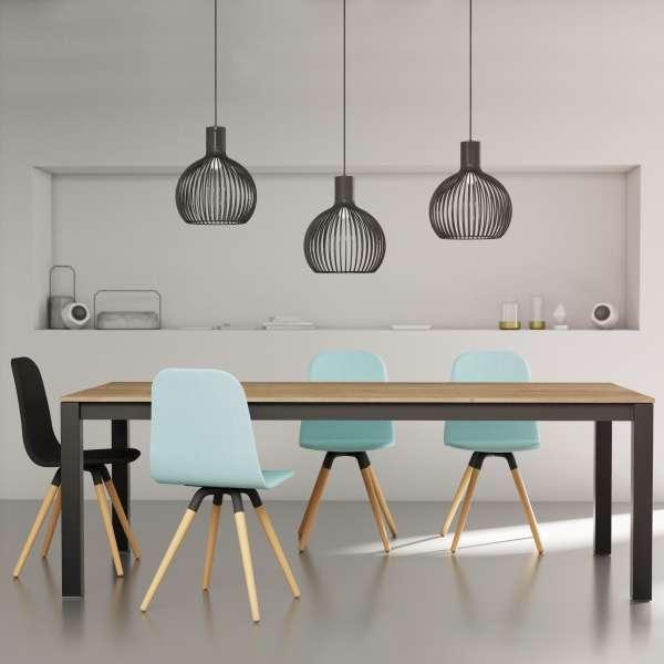 Table de salle à manger contemporaine en stratifié avec allonges - Tokio - 2
