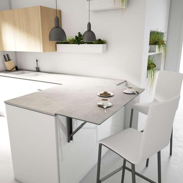 Table de cuisine murale rabattable en céramique - Vulcano - 3