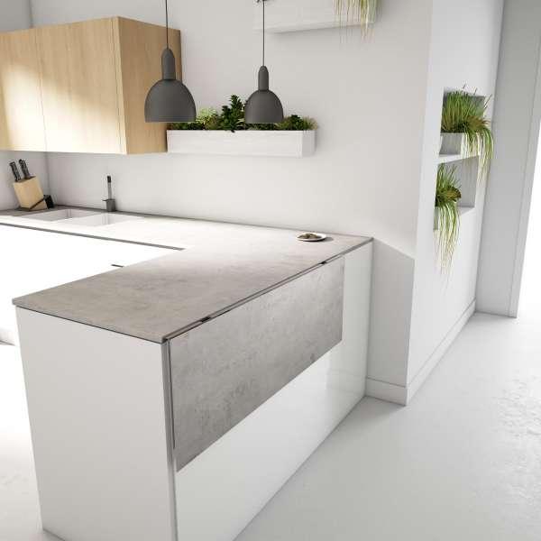 Table de cuisine murale en céramique - Vulcano - 4