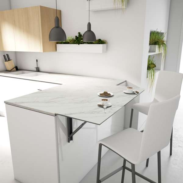 Table de cuisine rabattable en céramique - Vulcano - 5