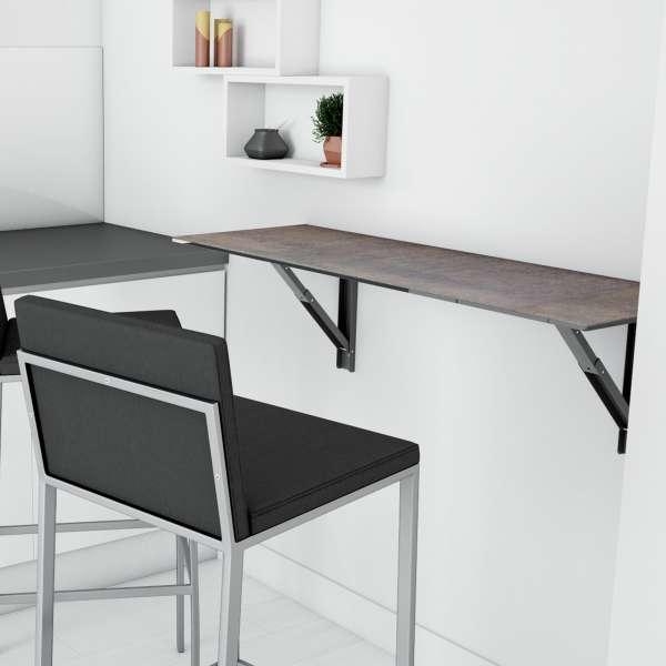 Table rabattable en céramique - Vulcano - 8