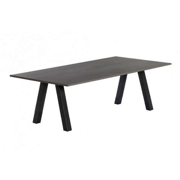 Table moderne rectangulaire en stratifié avec pieds obliques - Veneto - 4