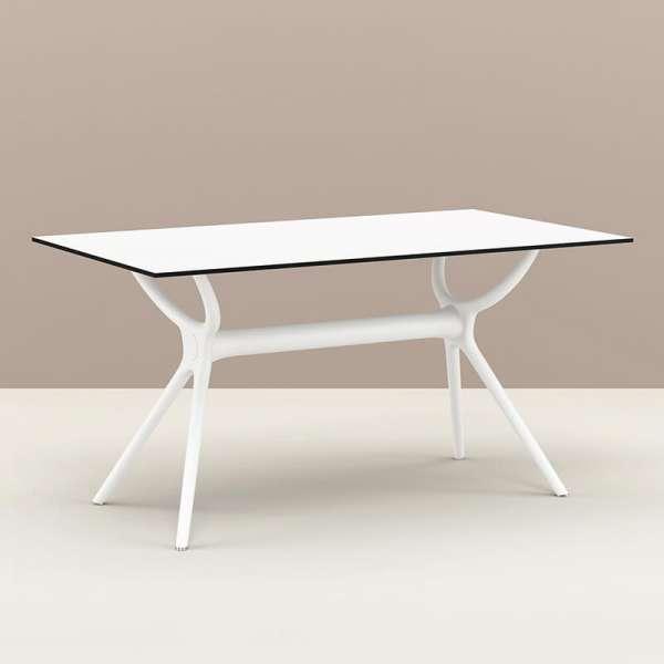 Table de jardin rectangulaire en stratifié et polypropylène - Air 7 - 7