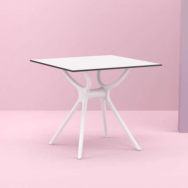Table carrée petit espace en stratifié et polypropylène - Air 12 - 1