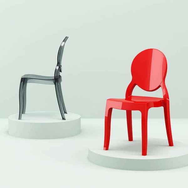 Chaise design Elizabeth Opaque en polycarbonate - 14