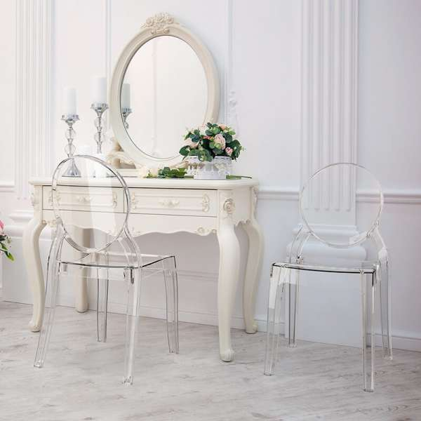 Chaise design en plexi transparent Elizabeth - 2