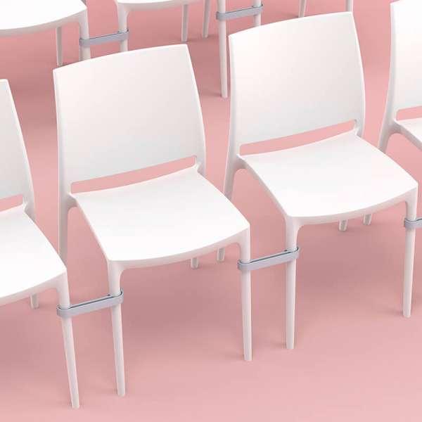 Chaise blanche en plastique polypropylène - Maya - 9