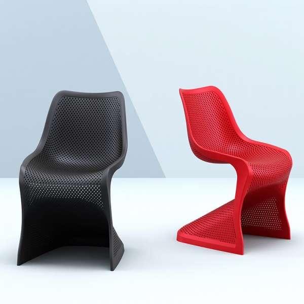 Chaise de jardin design ajourée en polypropylène - Bloom - 10