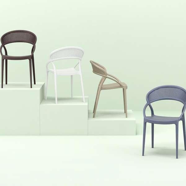 Chaise design empilable en polypropylène - Sunset - 3
