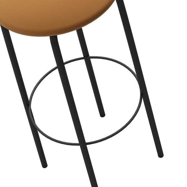 Tabouret snack de cuisine sans dossier en métal noir - Nantes - 6