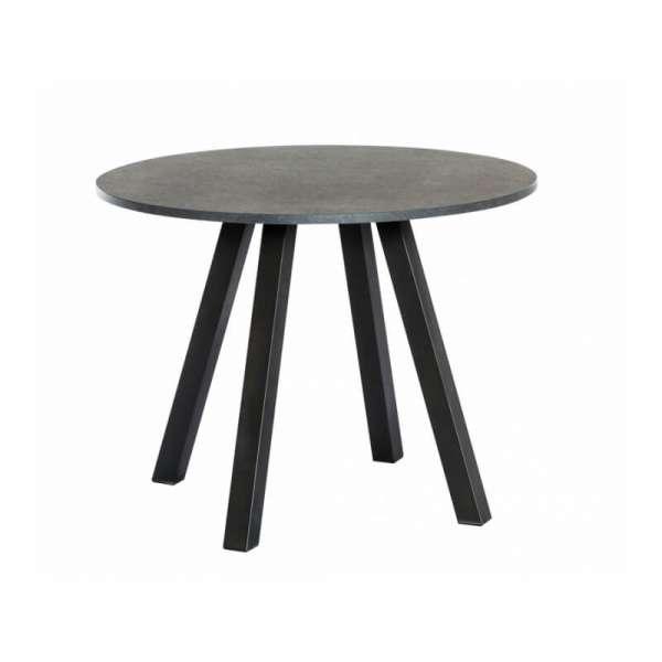 Table hauteur 90 cm ronde de cusine en stratifié - Veneto - 3