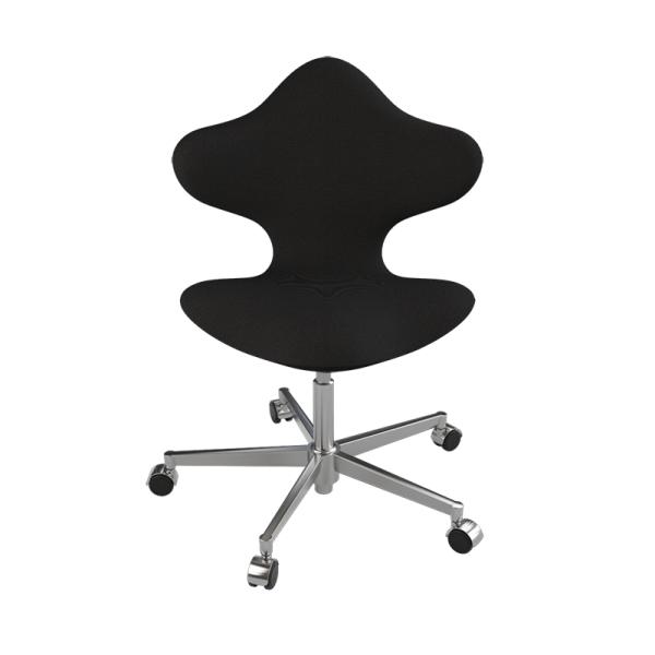 Chaise de bureau en tissu noir et métal - Active Varier® - 9