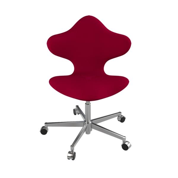 Chaise de bureau en tissu rouge et métal - Active Varier® - 6