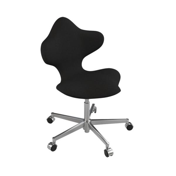 Chaise de bureau ergonomique en tissu noir et métal - Active Varier® - 7