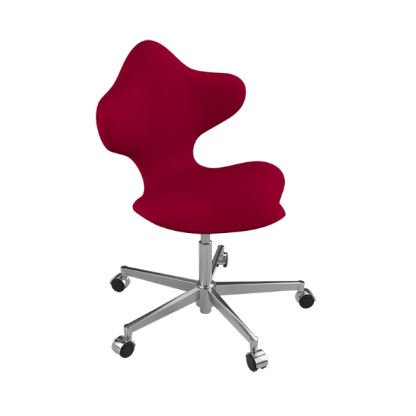 Chaise de bureau ergonomique en tissu rouge et métal - Active Varier® - 4