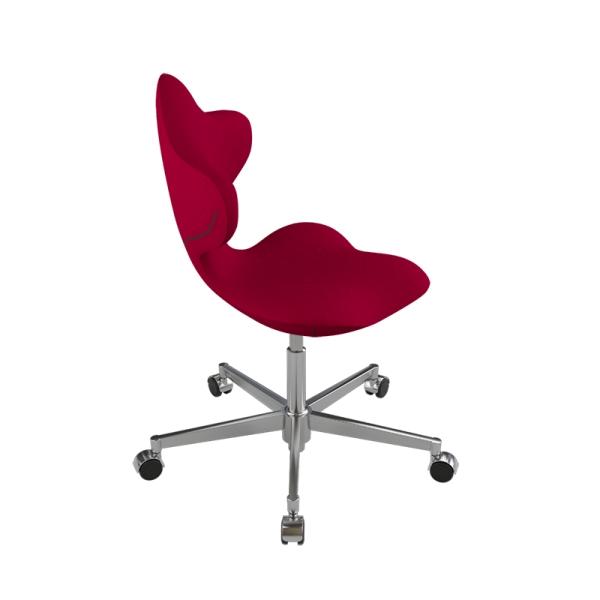 Chaise ergonomique en tissu rouge et métal - Active Varier® - 5