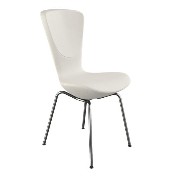 Chaise design ergonomique en tissu blanc et métal - Invite Varier® - 8