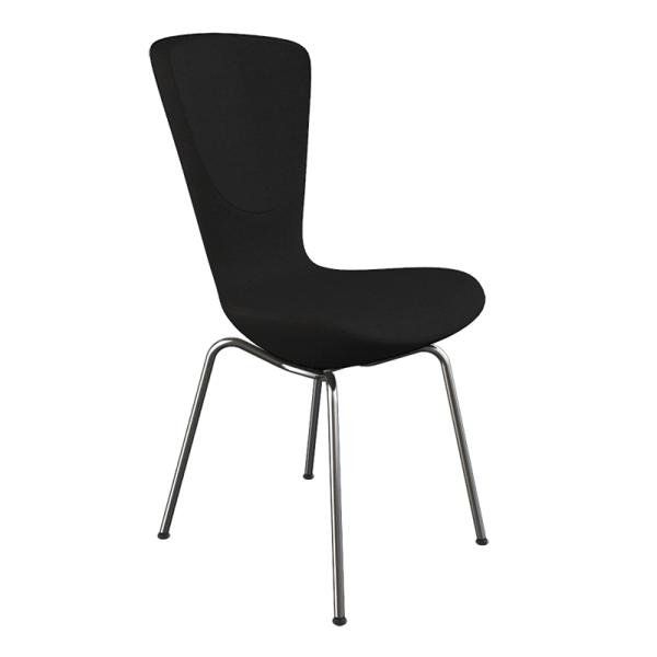 Chaise design ergonomique en tissu noir et métal - Invite Varier® - 5