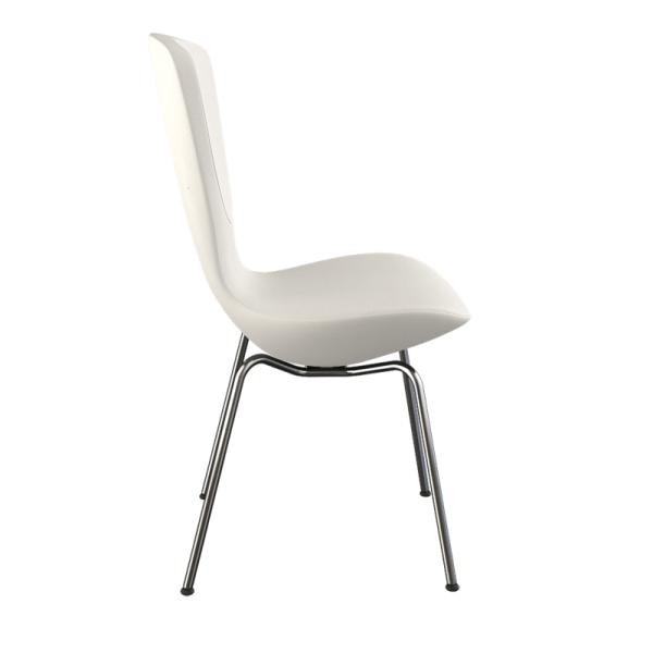 Chaise ergonomique en tissu blanc et métal - Invite Varier® - 9