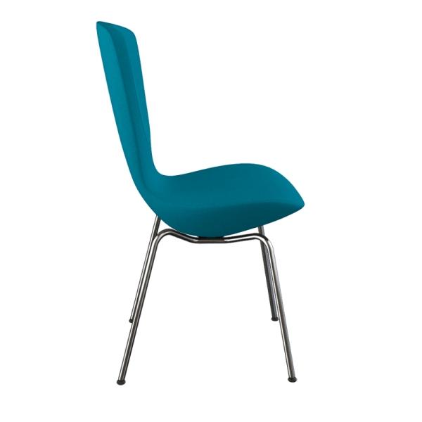 Chaise ergonomique en tissu bleu et métal - Invite Varier® - 12