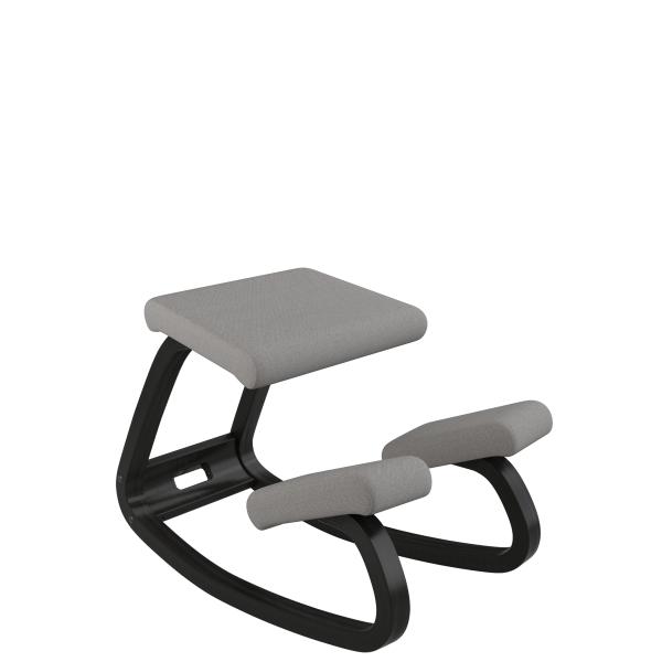 Chaise de bureau ergonomique à bascule en tissu gris - Variable Varier® - 26