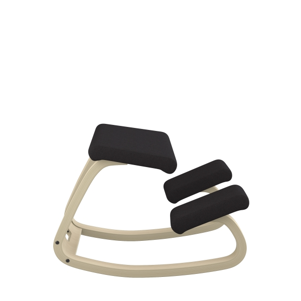 Chaise de bureau ergonomique à bascule en tissu noir - Variable Varier® - 24