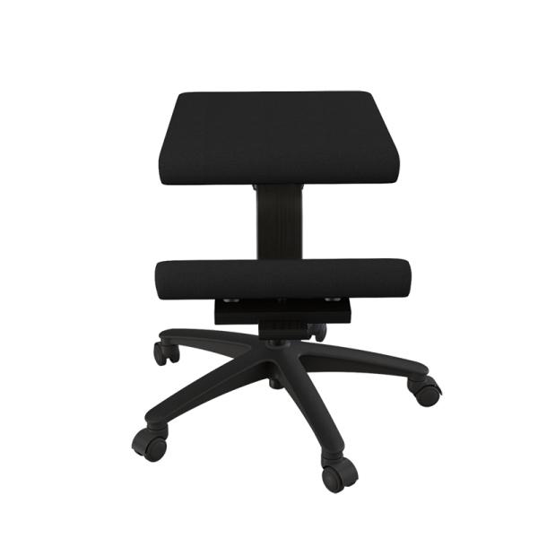 Siège ergonomique sur roulettes en tissu noir - Wing Varier® - 5