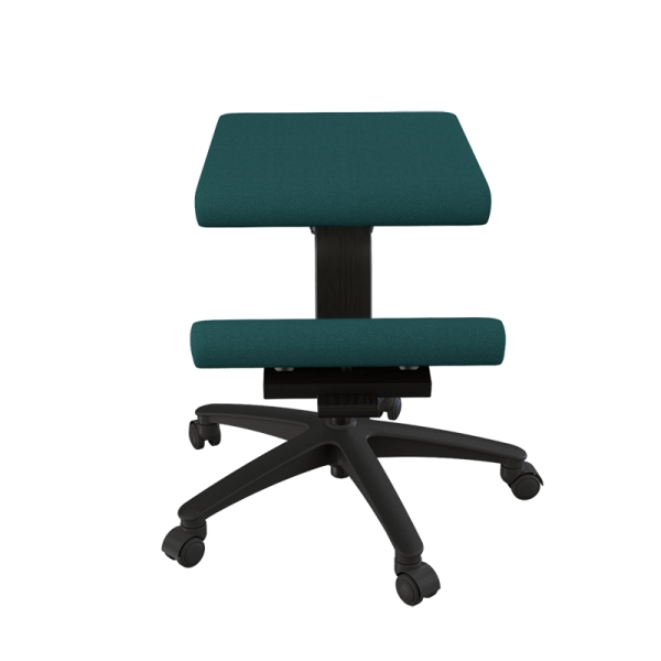Siège ergonomique sur roulettes en tissu vert - Wing Varier® - 12