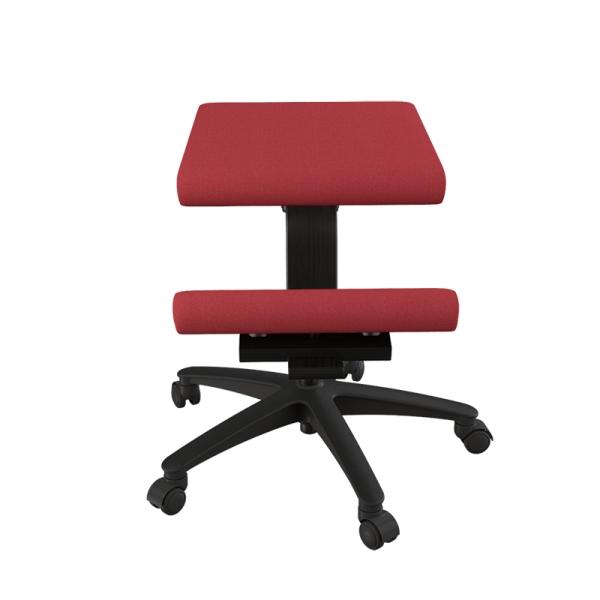 Siège ergonomique Varier sur roulettes en tissu rouge - Wing - 18