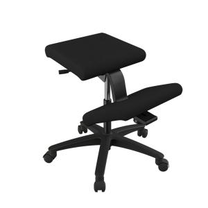 Siège ergonomique en tissu noir sur roulettes - Wing Varier®