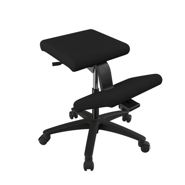 Siège ergonomique en tissu noir sur roulettes - Wing Varier® - 3