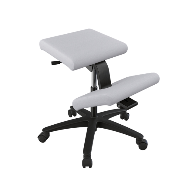 Siège ergonomique en tissu gris sur roulettes - Wing Varier® - 13
