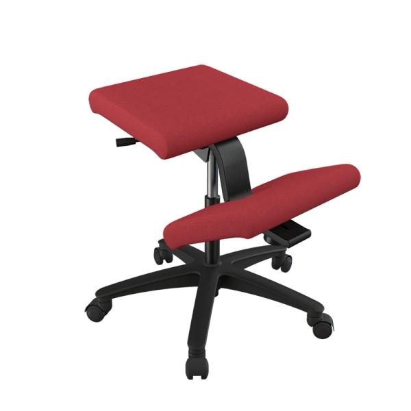 Siège ergonomique en tissu rouge sur roulettes - Wing Varier® - 16