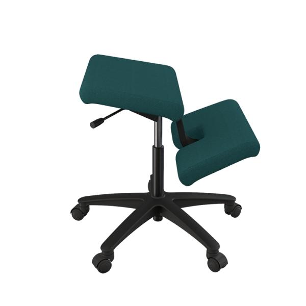 Siège ergonomique en tissu vert sur roulettes - Wing Varier® - 11