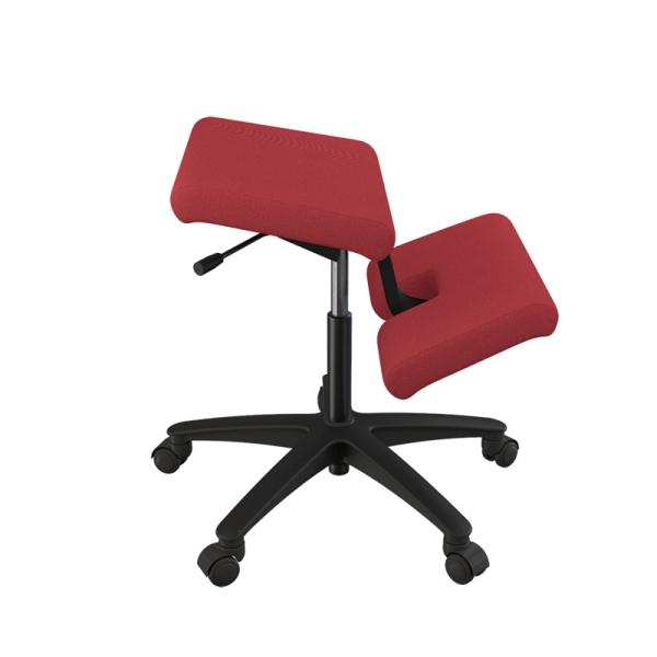 Siège ergonomique sur roulettes en tissu rouge - Wing Varier® - 17