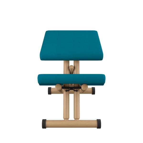 Chaise de ergonomique en tissu bleu et bois naturel - Multi Varier® - 11