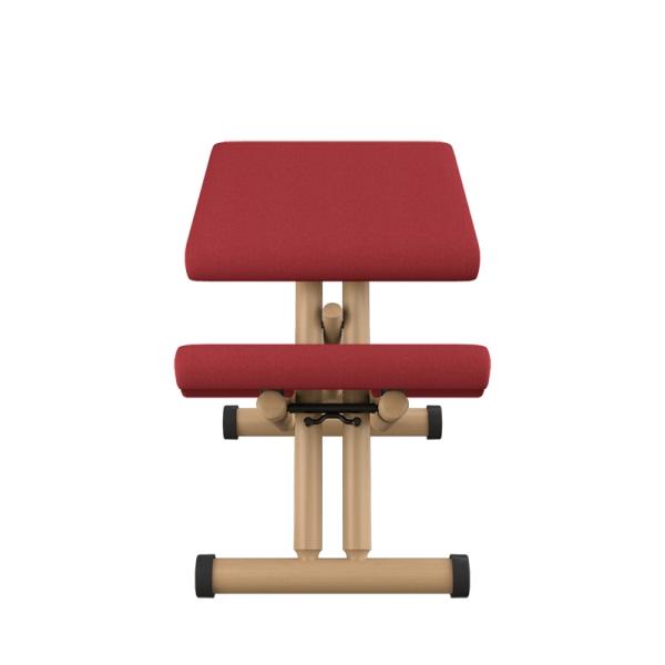 Siège ergonomique en tissu rouge et bois naturel - Multi Varier® - 8