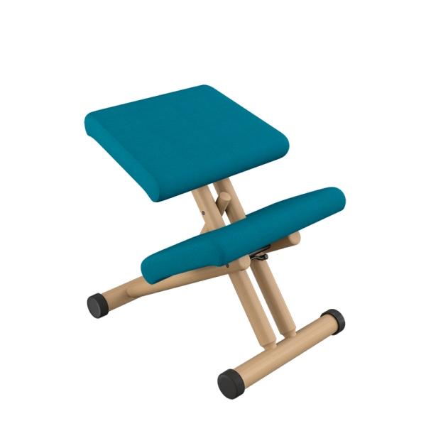 Siège de bureau ergonomique en tissu bleu et bois naturel - Multi Varier® - 9