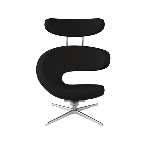Fauteuil ergonomique en tissu noir - Peel Varier® - 6