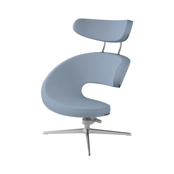 Fauteuil inclinable avec repose pieds ergonomique bleu - Peel Varier® - 10
