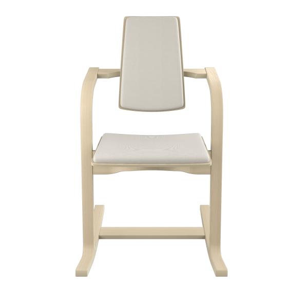 Fauteuil à bascule ergonomique blanche et bois naturel - Actulum Varier® - 25