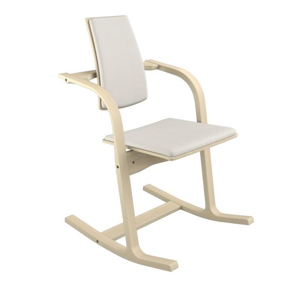 Fauteuil à bascule ergonomique en tissu blanc - Actulum Varier® - 23