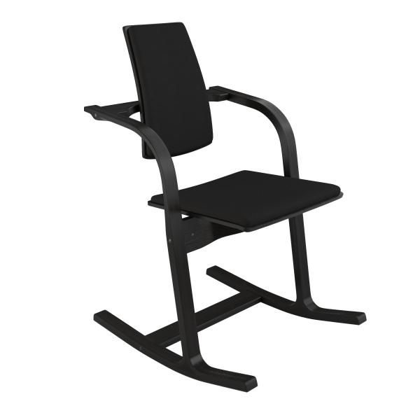 Fauteuil de bureau ergonomique à bascule en tissu noir - Actulum Varier® - 20